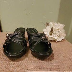 Hillard & Hanson Black Strappy Sandal